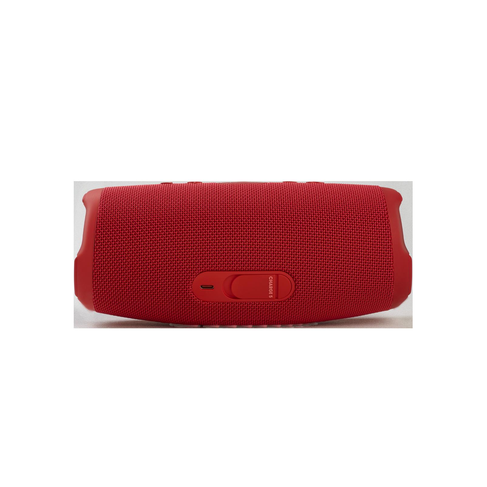 JBL Charge 5 - Red - Portable Waterproof Speaker with Powerbank - Back