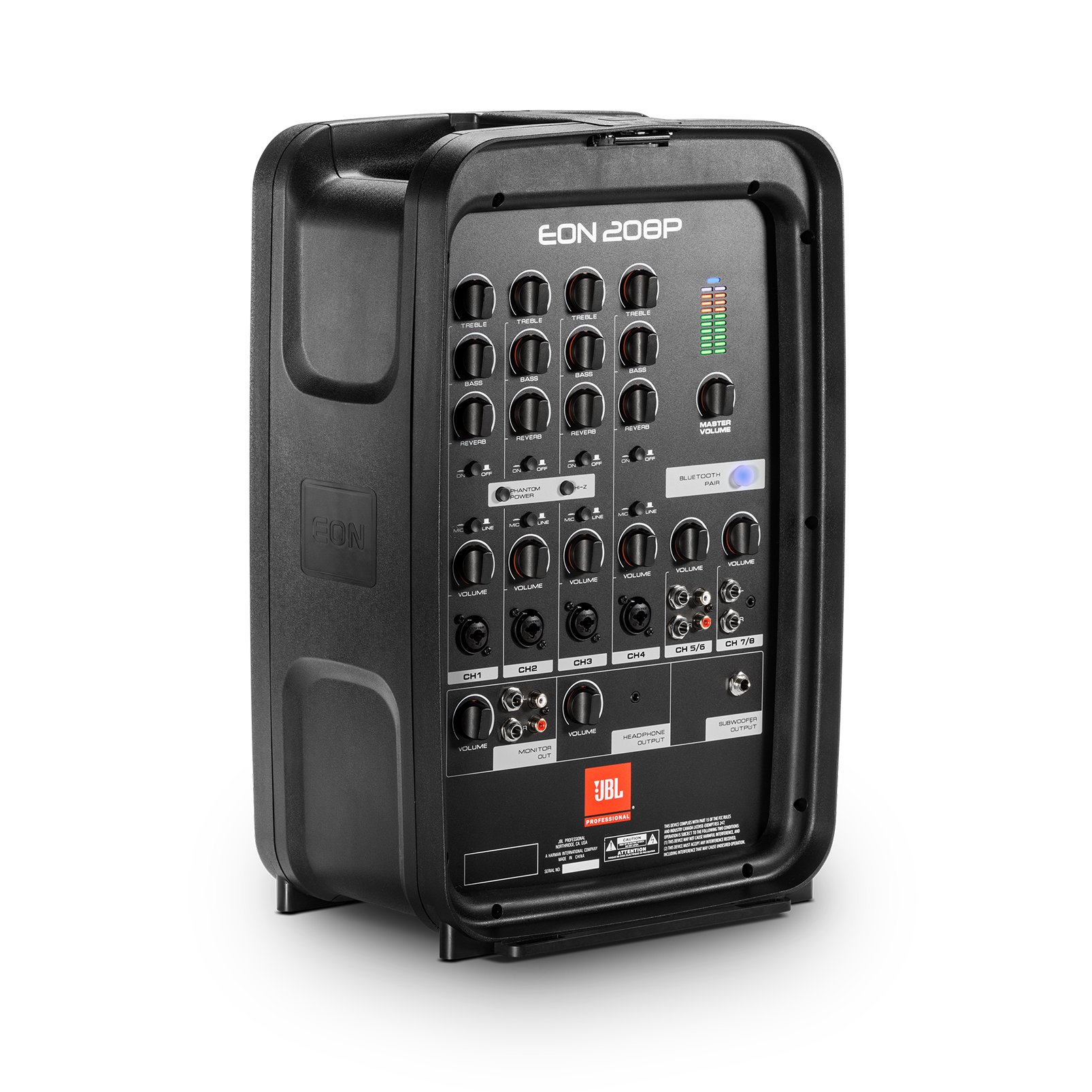 JBL EON208P - Black - Portable 8 in. 2-Way PA with Powered 8-Channel Mixer and Bluetooth® - Detailshot 3