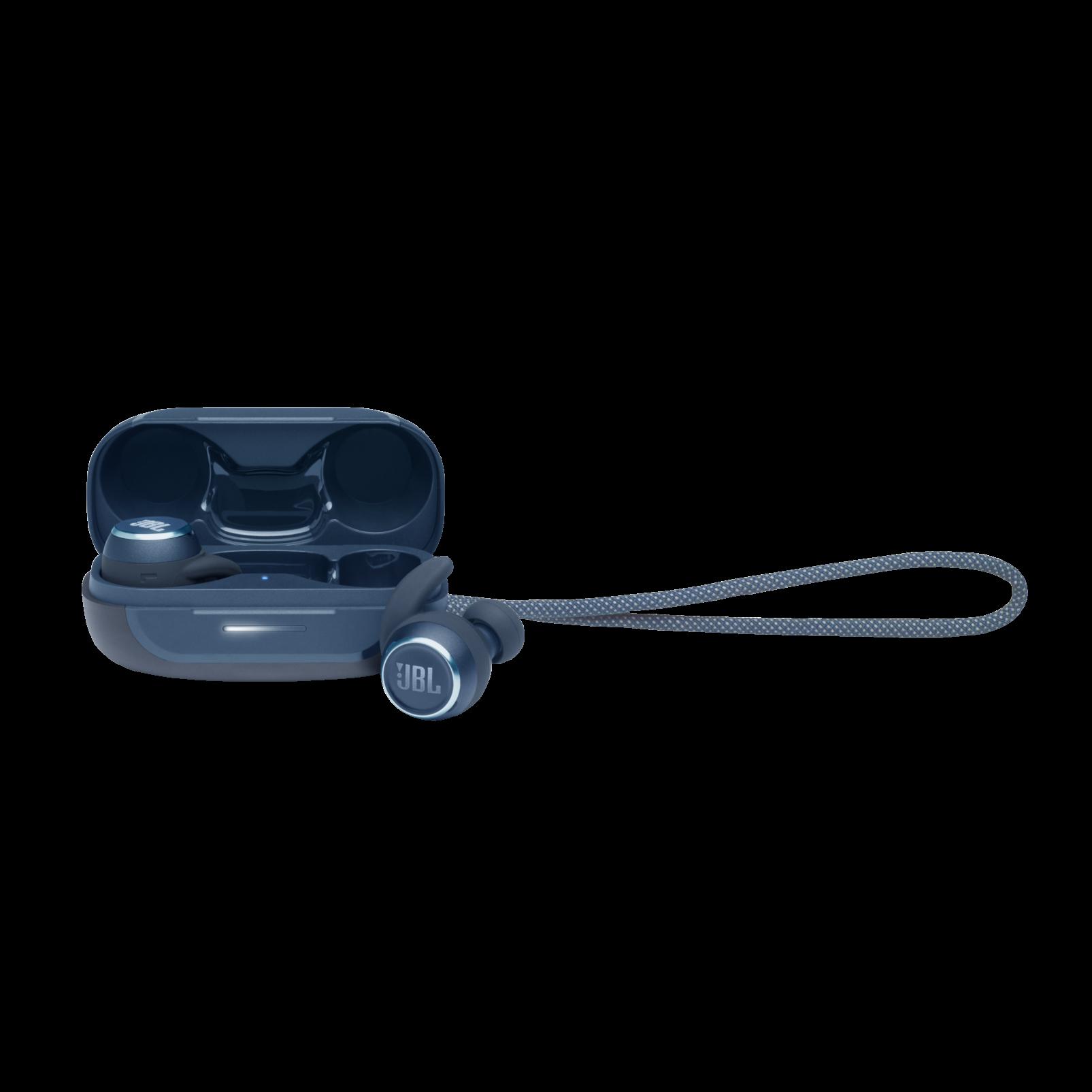 JBL Reflect Mini NC - Blue - Waterproof True Wireless In-Ear NC Sport Headphones - Hero