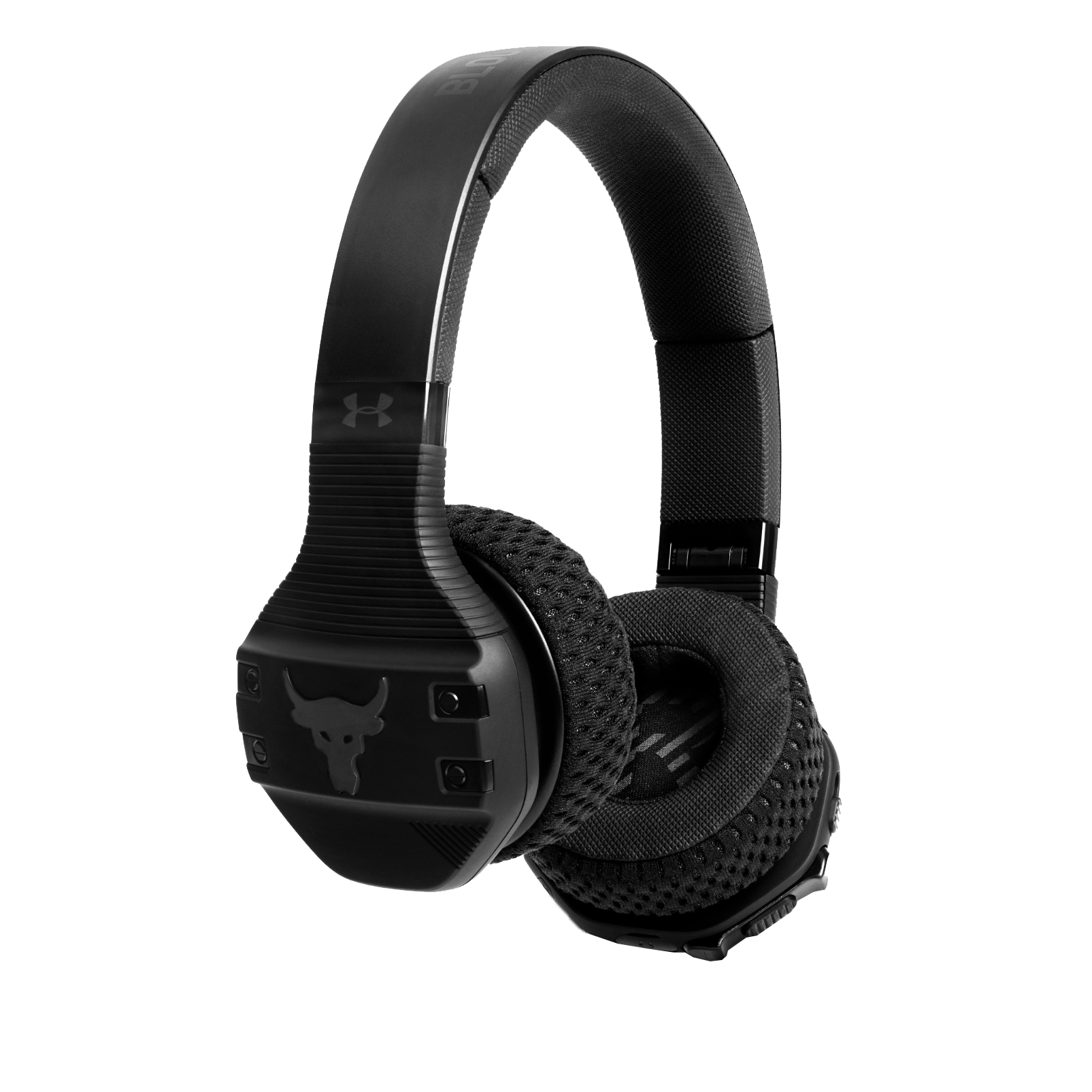 UA Sport Wireless Train Project Rock – Engineered by JBL - Black - On-ear sport Headphones - Hero
