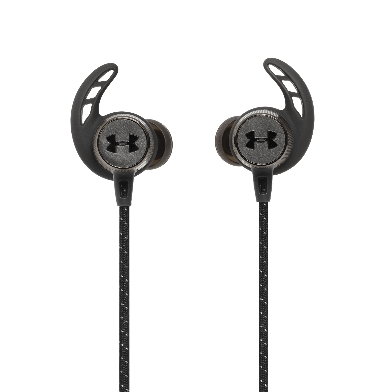 UA Sport Wireless REACT - Black - Secure-fitting wireless sport earphones with JBL technology and sound - Back