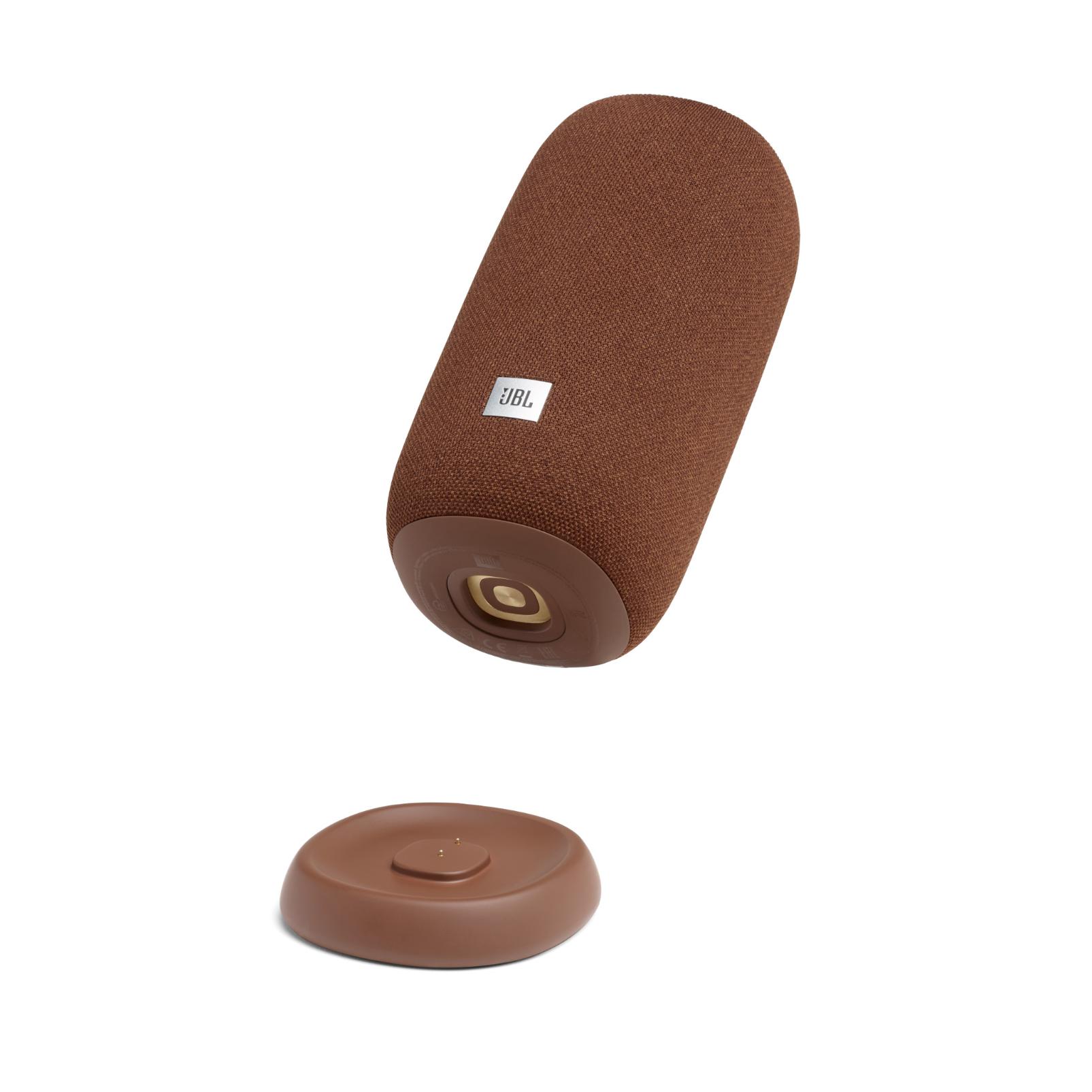 JBL Link Portable - Brown - Portable Wi-Fi Speaker - Detailshot 1