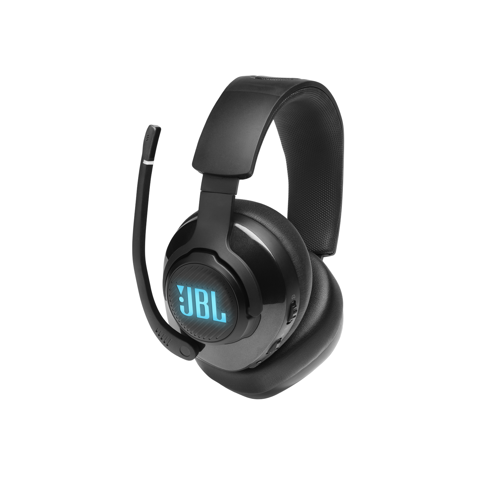 JBL Quantum 400 - Black - USB over-ear gaming headset with game-chat dial - Detailshot 2