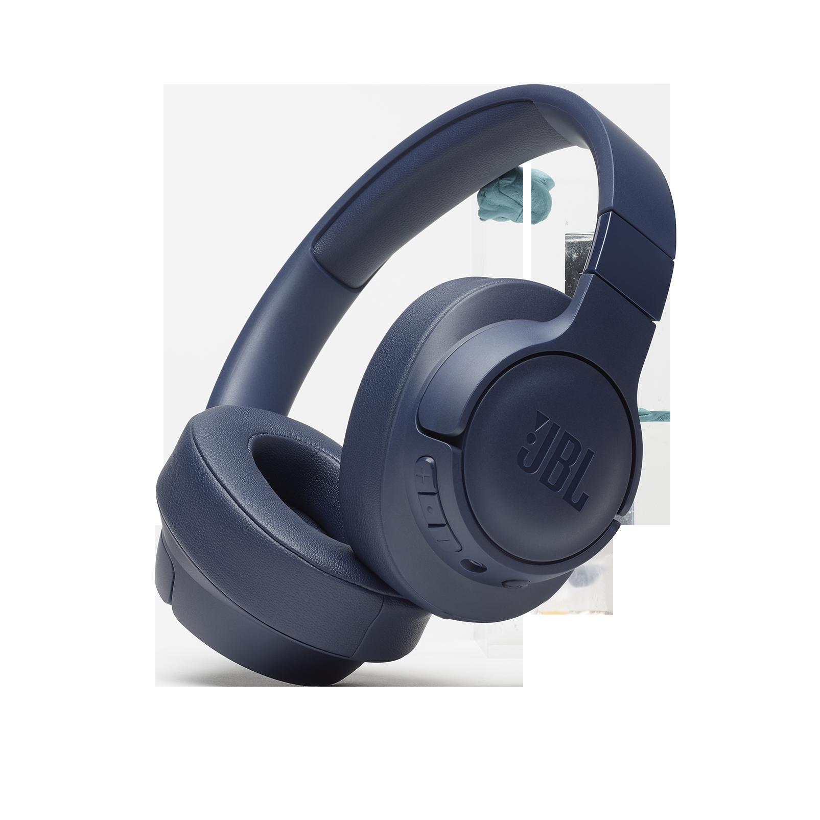 JBL TUNE 700BT - Blue - Wireless Over-Ear Headphones - Hero