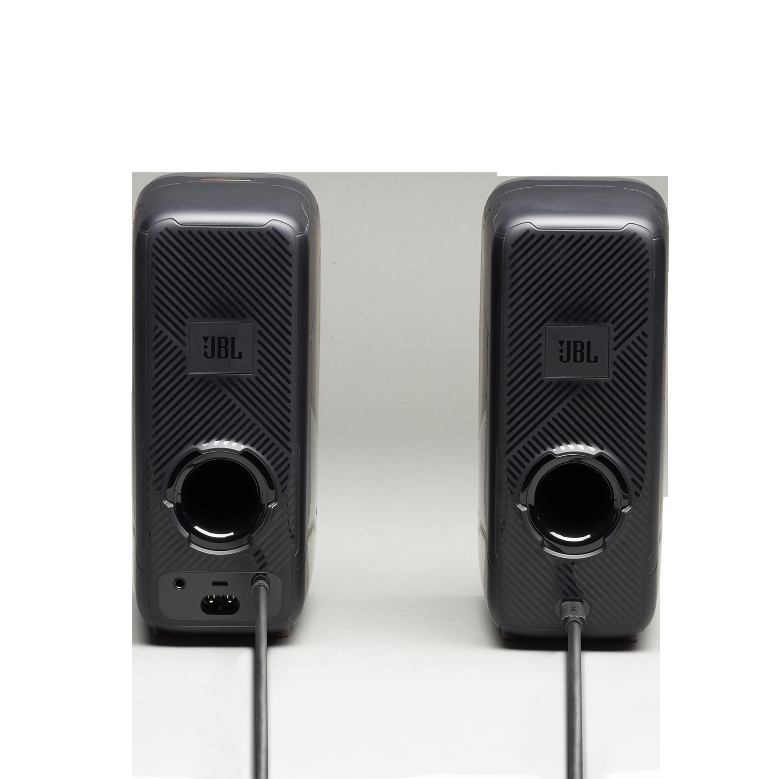 JBL Quantum Duo - Black Matte - PC Gaming Speakers - Back