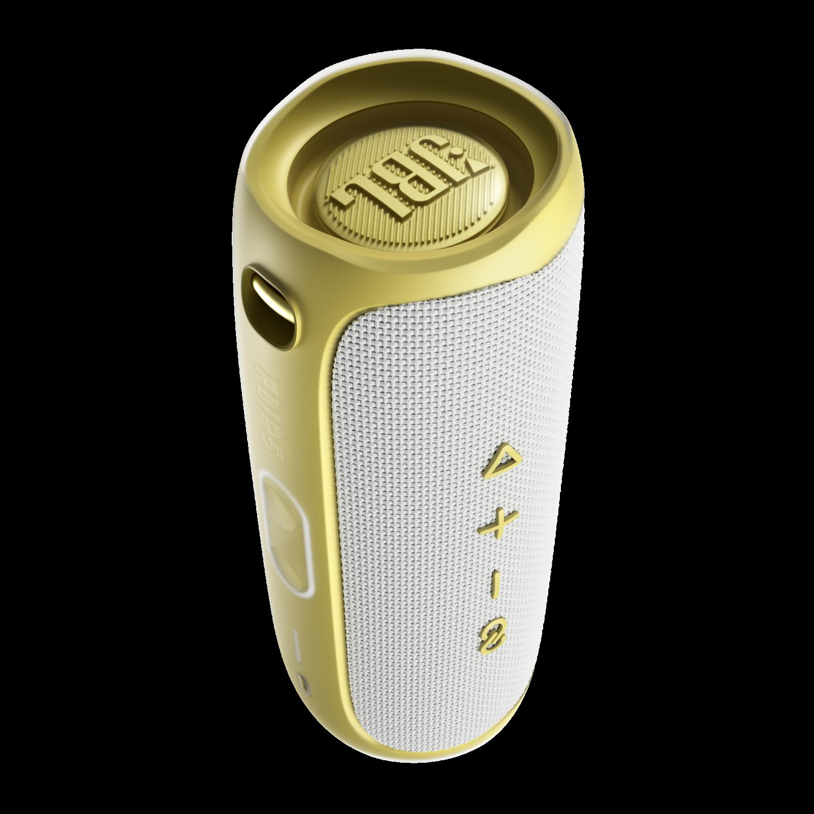 JBL Flip 5 Tomorrowland Edition - Gold/White - Portable Waterproof Speaker - Back