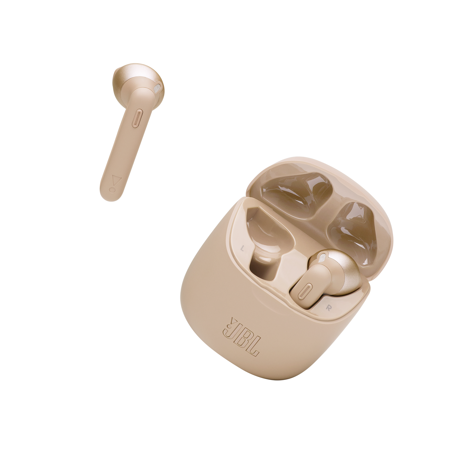 JBL Tune 225TWS - Gold - True wireless earbuds - Detailshot 3