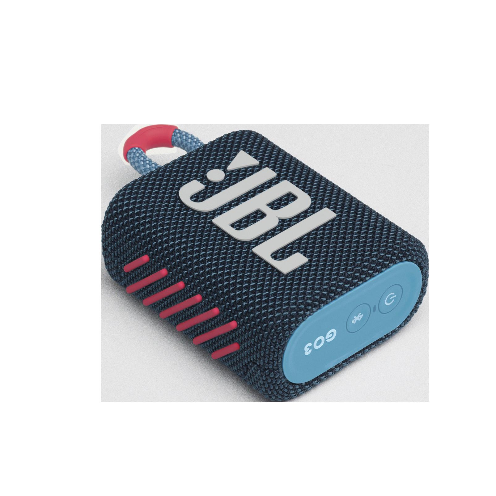 JBL GO 3 - Blue / Pink - Portable Waterproof Speaker - Detailshot 3