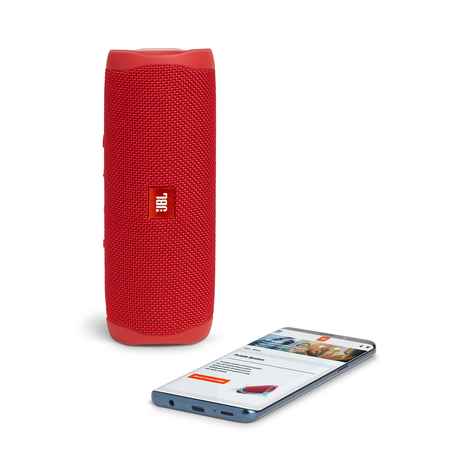 JBL FLIP 5 - Red - Portable Waterproof Speaker - Detailshot 2