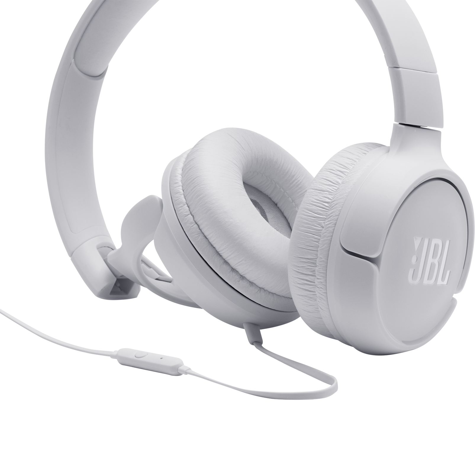 JBL TUNE 500 - White - Wired on-ear headphones - Detailshot 3