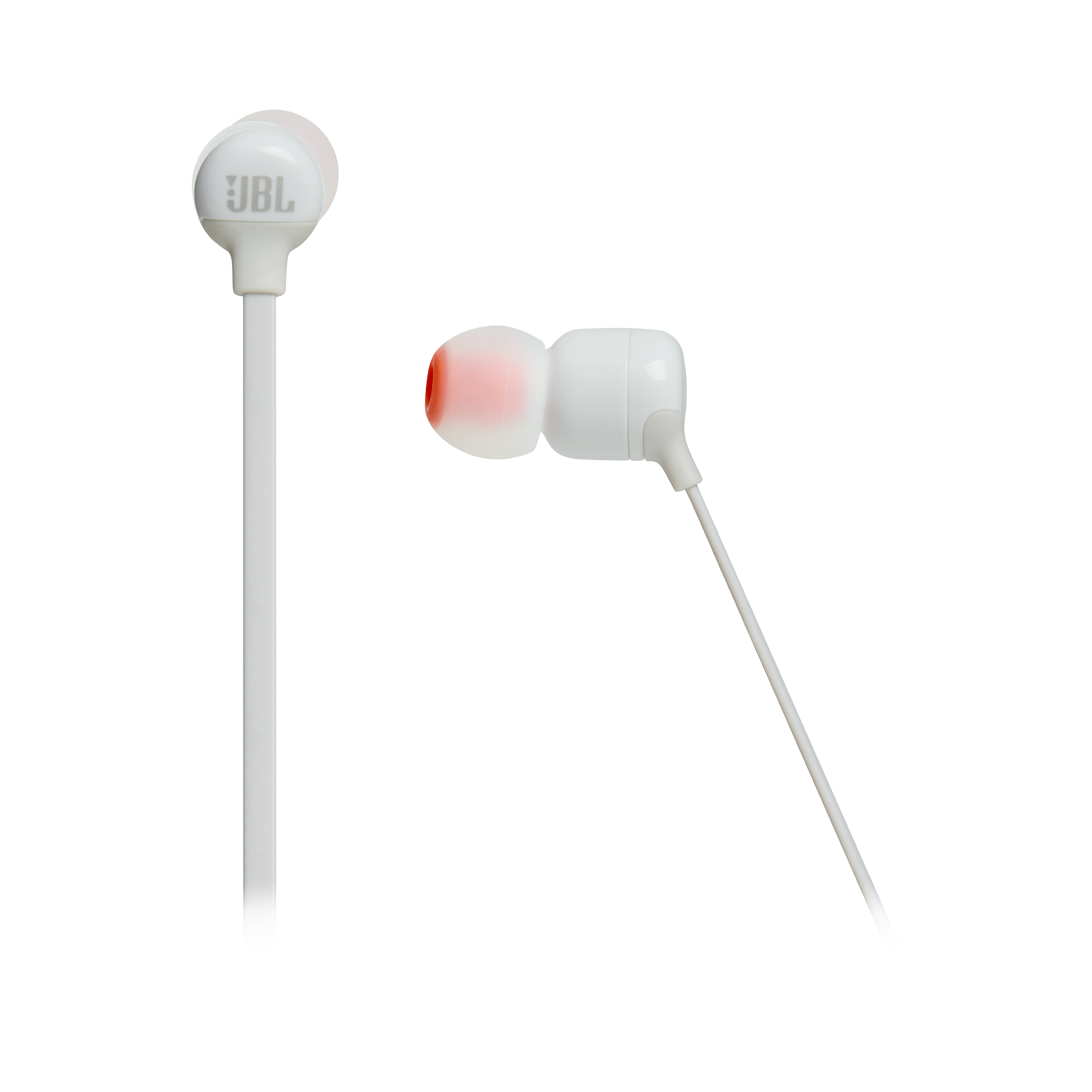 JBL TUNE 110BT - White - Wireless in-ear headphones - Detailshot 3