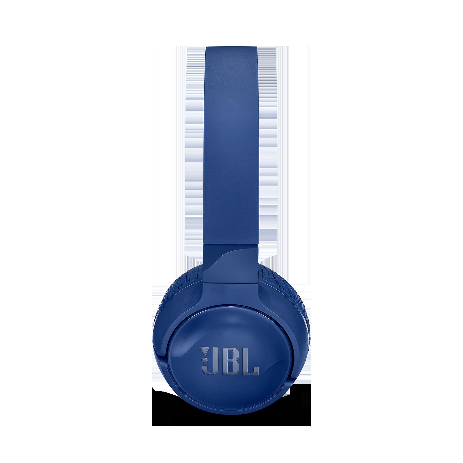 JBL TUNE 600BTNC - Blue - Wireless, on-ear, active noise-cancelling headphones. - Left