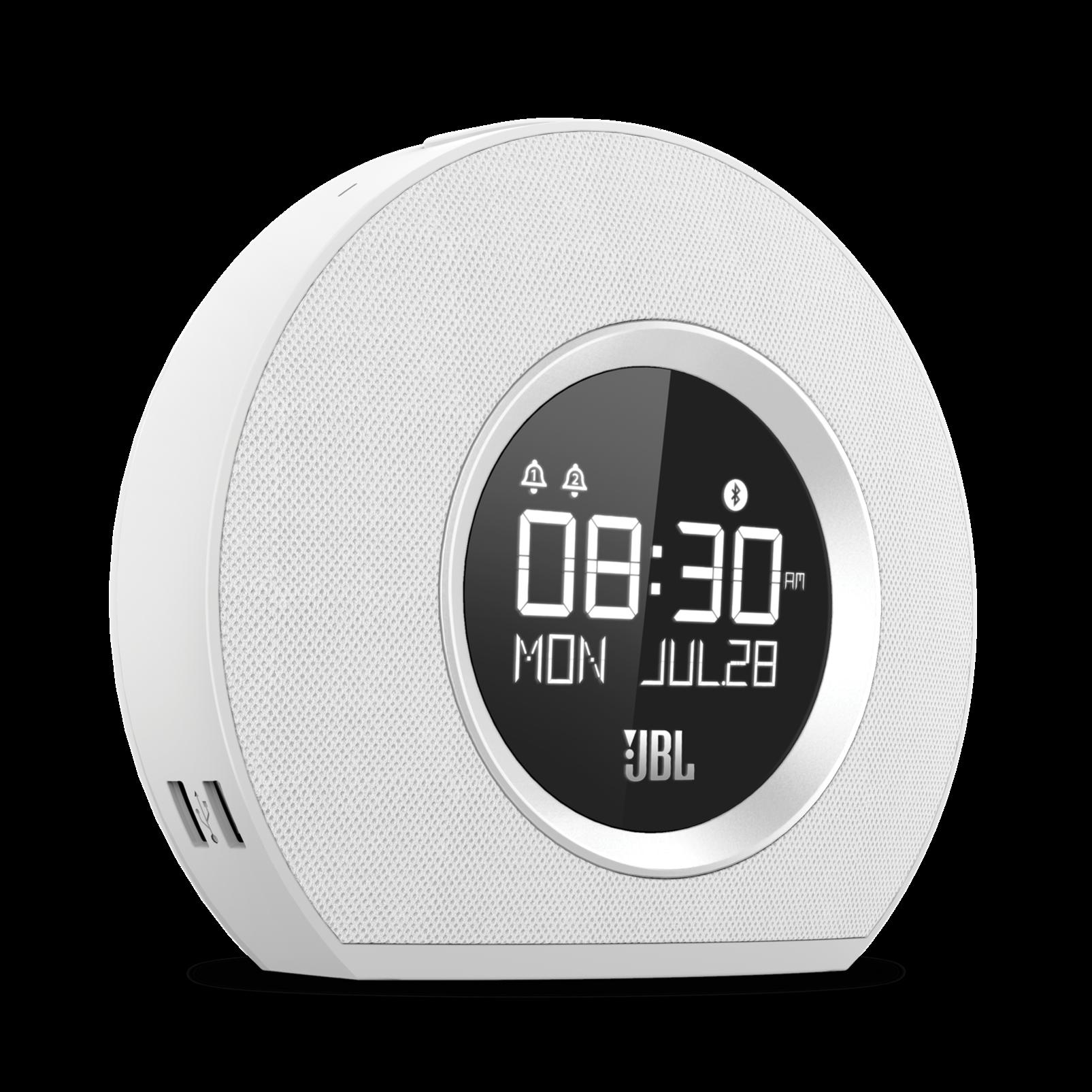 JBL Horizon - White - Bluetooth clock radio with USB charging and ambient light - Hero