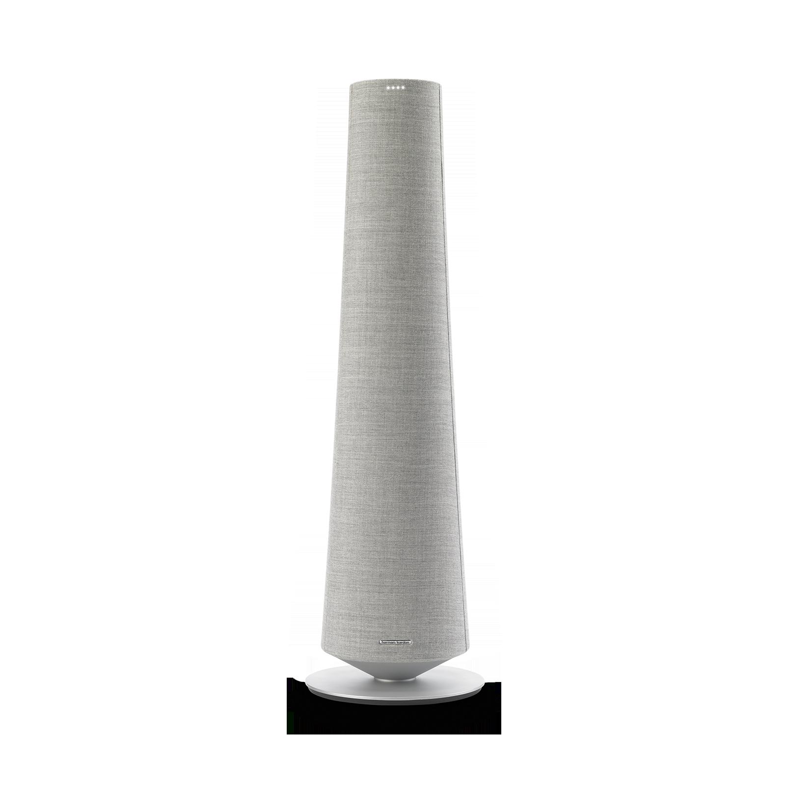 Harman Kardon Citation Tower - Grey - Smart Premium Floorstanding Speaker that delivers an impactful performance - Front
