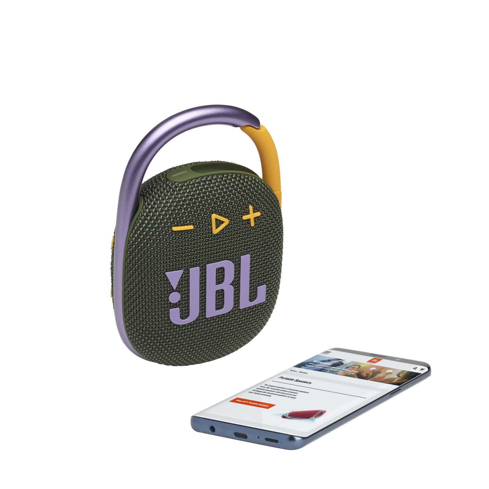 JBL CLIP 4 - Green - Ultra-portable Waterproof Speaker - Detailshot 1
