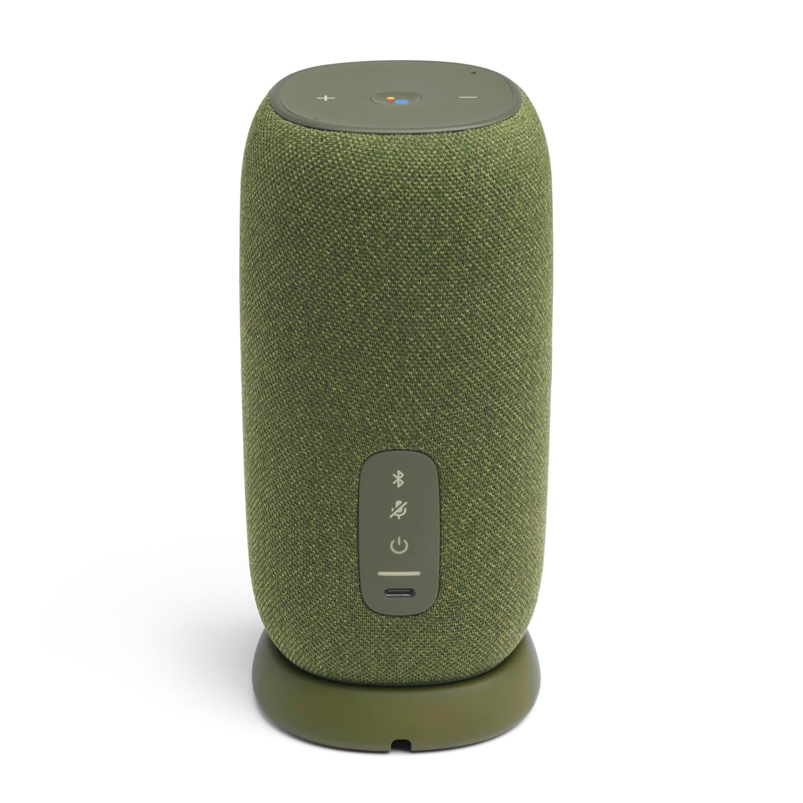 JBL Link Portable - Green - Portable Wi-Fi Speaker - Back