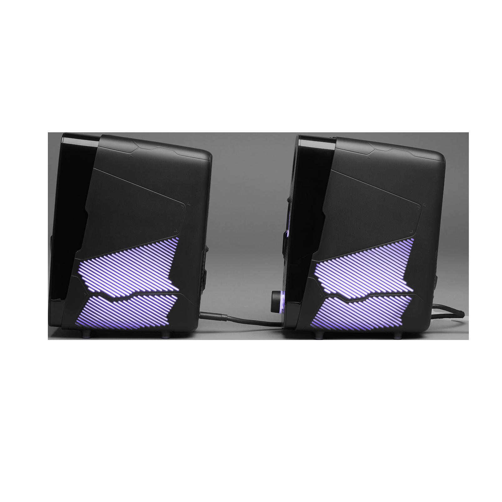 JBL Quantum Duo - Black Matte - PC Gaming Speakers - Left