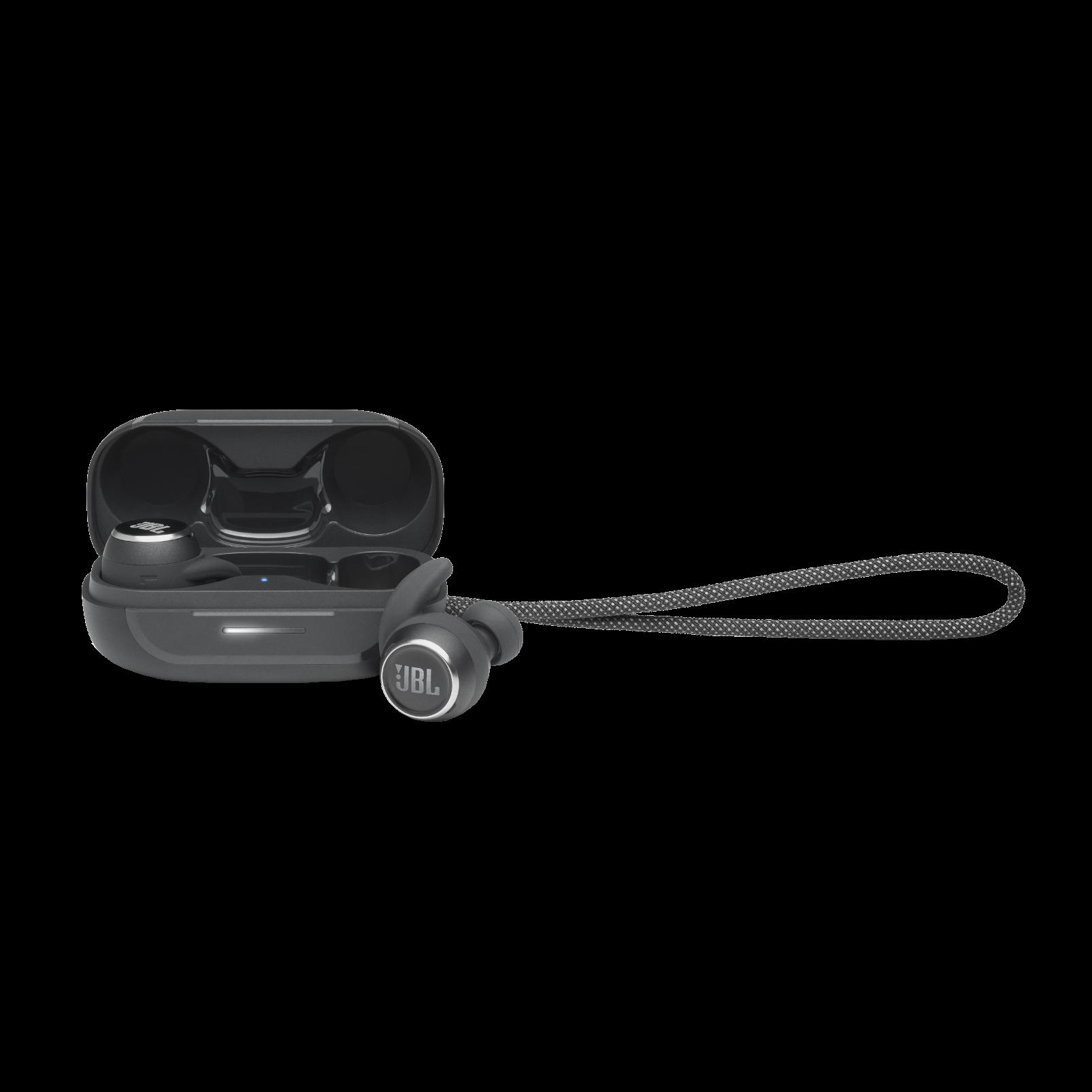 JBL Reflect Mini NC - Black - Waterproof True Wireless In-Ear NC Sport Headphones - Hero