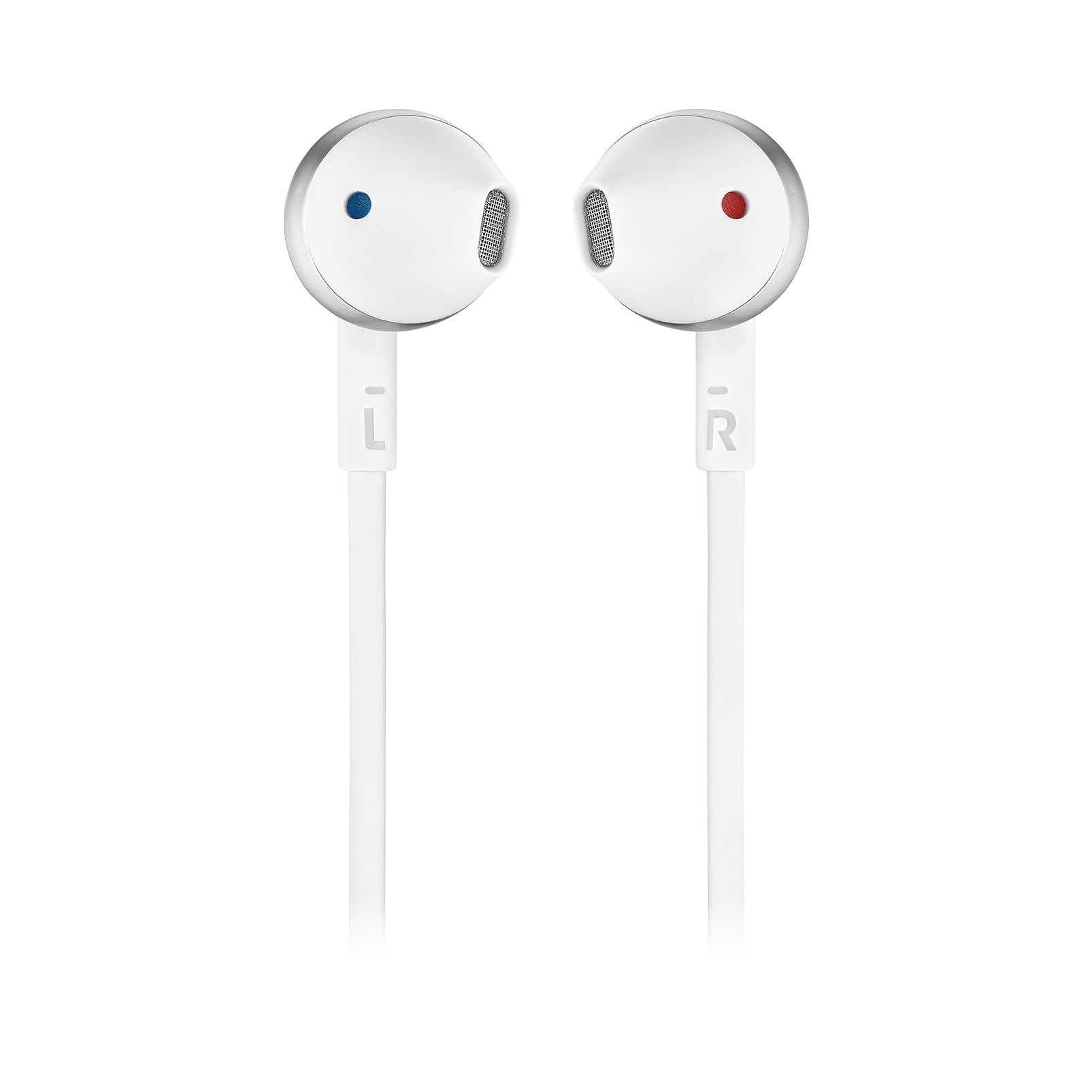 JBL TUNE 205BT - Silver - Wireless Earbud headphones - Front