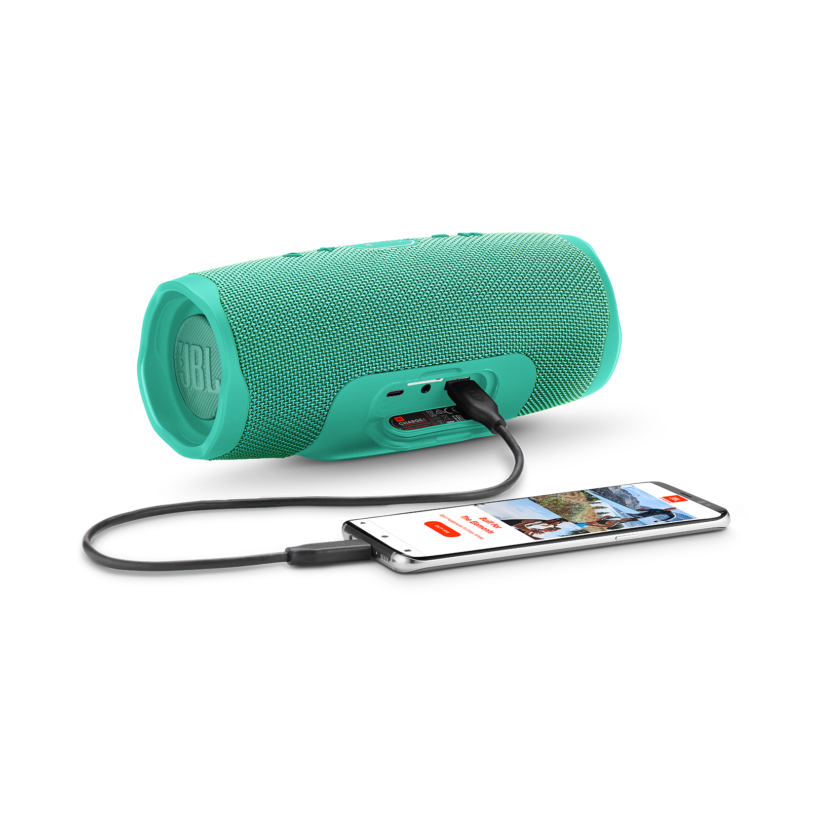 JBL Charge 4 - Teal - Portable Bluetooth speaker - Detailshot 4